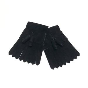タッセルキルティタン【BLACK】スエード