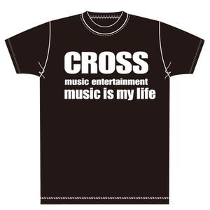 クロスミュージックオリジナルTシャツ-ブラック