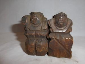一刀彫恵比寿&大黒 wooden Ebisu & Daikoku(No9)