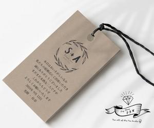 【ウェディングロゴ】288通りから選べるサンキューカード&サンキュータグ⑧【47円~/枚 】