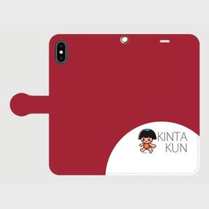 手帳型ケースiphoneXS Max用 レッド
