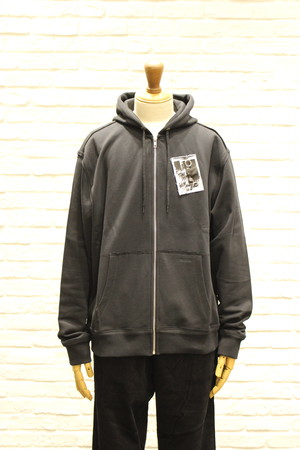 FRED PERRY/RAF SIMONS PRINTED PATCH ZIP THROUGH SWEATSHIRT