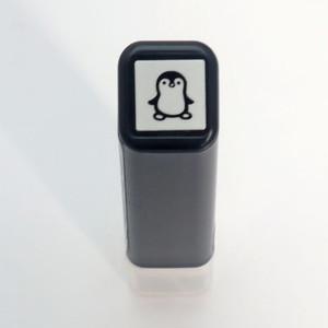 【こどものかお】スケジュールスタンプ浸透印「ペンギン」