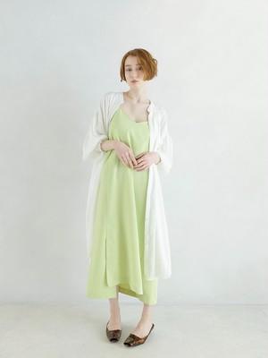 slit camisole one-piece