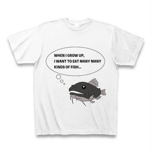 バトラクスキャットフィッシュ Tシャツ   白   魚