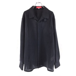 Y'S FOR MEN STAND COLLAR SNAPBOTTON SHIRT