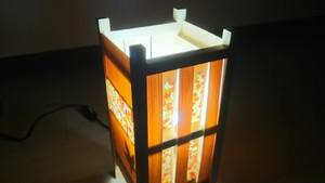 【いやしとやすらぎの空間】を演出する 青森ヒバ 木製 和風 ランプシェード   No.   016
