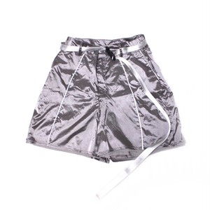 【apexesone】 Futurewitch Nylon  Fabric Low Waist Shorts gray