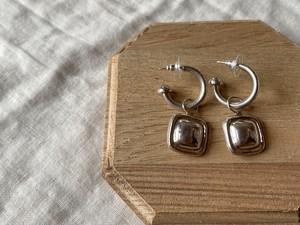 〈vintage silver925〉hoop square pierce