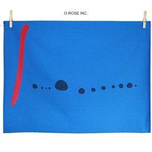 ティータオル ミロ・ブルーⅡ Tissage Moutet Art collection/Joan Miro i Ferra