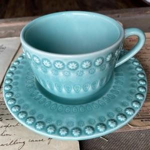 Tea cup&saucerl【Aqua green】/BORDALLO PINHEIRO