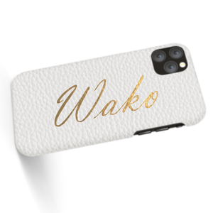 Custom Name iPhone with Premium Shrink Leather Case (Limited/6月分数量限定)