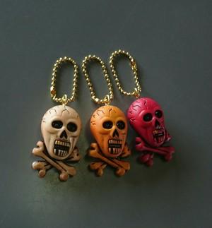 cross bone key chain