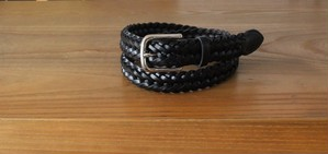 Whitehouse Cox 28mm PLAITED BELT BLACK