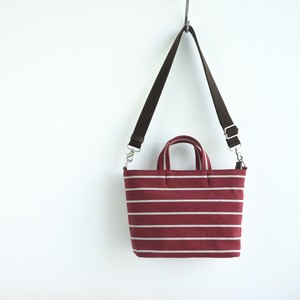 BORDER TOTE FS (2WAY)/ WINE RED