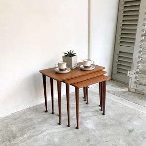 Teak Nest Set of 3 Tables 1960's オランダ