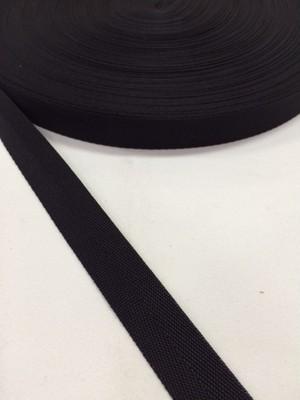 ナイロン 杉綾織(綾テープ) 16mm幅 黒 5mカット