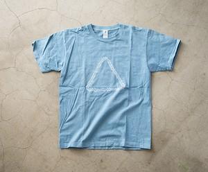 LITMUS 本藍染T-Shirt(空色)/designd by KIZM
