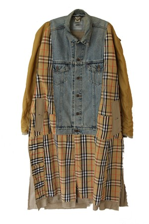 RECONSTRUCTED BURBERRY DENIM LONG COAT(YAH)