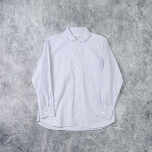【MANUAL ALPHABET】SUPIMA OX ROUND COLOR SHIRT(STRIPE)マニュアルアルファベット スーピマオックスラウンドカラーシャツ