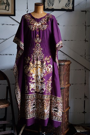 Ethnic purple dress