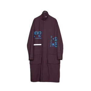 HUMIS FLY-FRONT OVERCOAT col.PURPLE