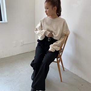 High-waist slacks pants