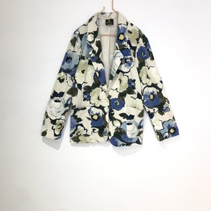 ◼︎flower print cotton blend tailor jacket from U.S.A.◼︎