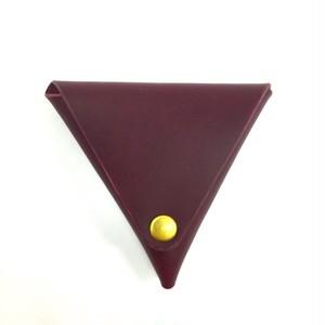 三角コインケース【ワイン】