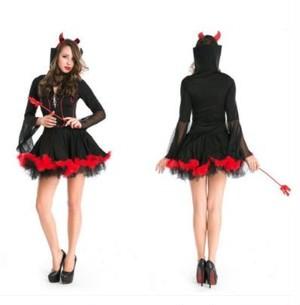 魔女 コスプレ ハロウィン 悪魔 巫女 女王 バンパイア 吸血鬼 コスチューム 衣装 仮装 大人 変装 パーティーグッズ 黒X赤 フリーサイズ xsab011