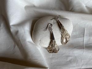 〈vintage silver925〉liquid beads dangle pierce