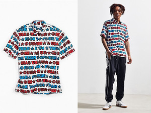 UO|F Yeah USA Short Sleeve Button-Down Shirt