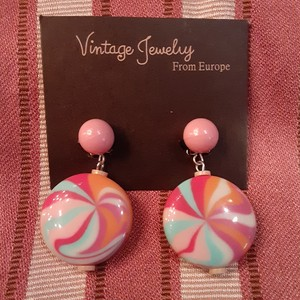 Vintage candy color earrings ヴィンテージキャンディーカラーイヤリング