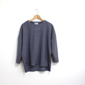 裾スリットカット&ソー / ブルーグレー