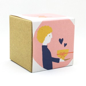 お茶と気持ちを贈る男の子|バレンタイン|箱茶