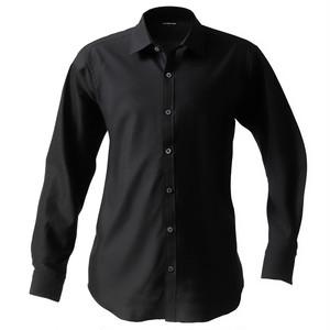 DJS-777 decollouomo メンズドレスシャツ 長袖 overture - ブラック
