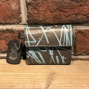 DFA:ESPY SKINNY TAG LEATHER WALLET/ mini BLACK×BLUE