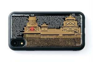 【寄附付き】FLASH 熊本城 基板アート iPhone XRケース 黒【東京回路線図A5クリアファイルをプレゼント】