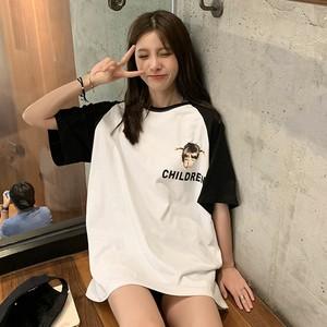 【トップス】Ins風chicファッションゆるい半袖Tシャツ合わせやすい