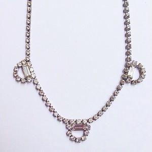 rhinestone design necklace[n-58]