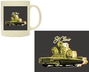 "St.Clair Mug ""Golden lion Cadillac"""