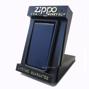 ネイビーブルーのジッポーマネークリップ / Zippo Navy Blue Money Clip