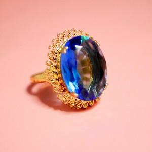 ぽわんツートーンガラスリング(指輪)