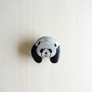 漆の帯留「パンダ」No.25