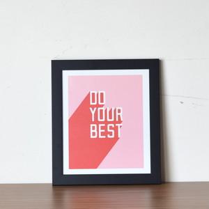【即納】フレーム入りアートプリント   DO YOUR BEST
