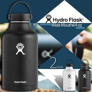 5089026 ハイドロフラスク HydroFlask 水筒 HYDRATION 64 oz Wide Mouth ハワイ 真空断熱構造 18/8ステンレス 黒 白 ブラック ホワイト ギフト 就職祝い