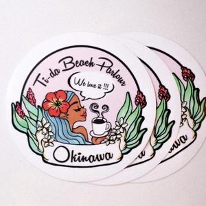 Ti-da Beach Parlour/Original sticker