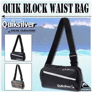 QBG194303 クイックシルバー ウエストバッグ QUIK BLOCK WAIST BAG 3L 撥水 速乾性 ダブルジップ ボディバック ウエストポーチ 黒 グレー QUIKSILVER