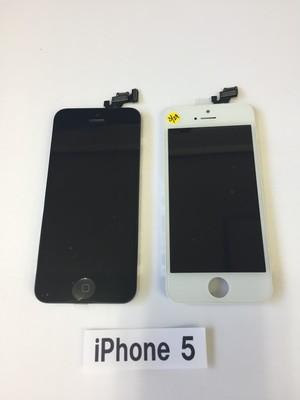 iPhone  5  修理用 フロントディスプレイガラス+液晶(LCD)+タッチパネル