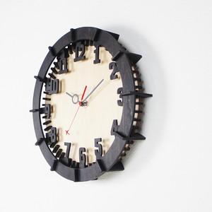 「モダン(数字)」木製掛け時計